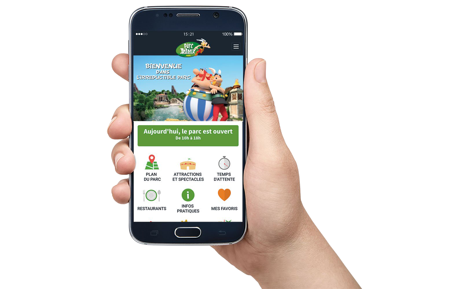 application mobile parc asterix 2017